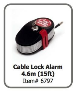 Cable Lock Alarm 4.6m (15ft)