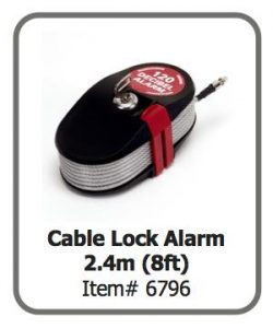 Cable Lock Alarm 2.4m (8ft)