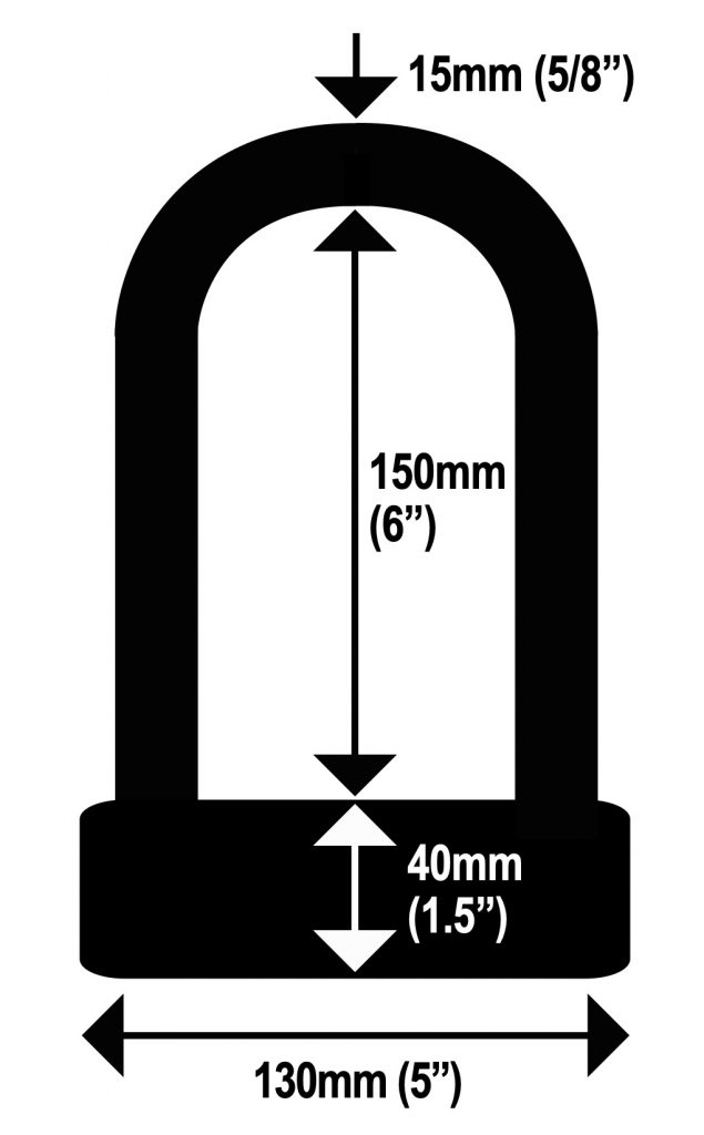 Lock Alarm Ultra Dimensions Diagram