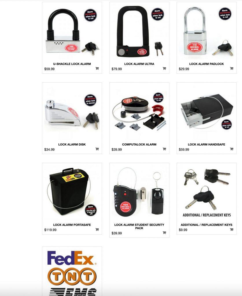Lock Alarm Online Store